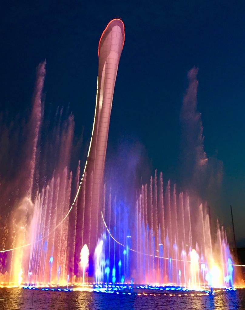 Olympiapuiston suihkulähdeshow